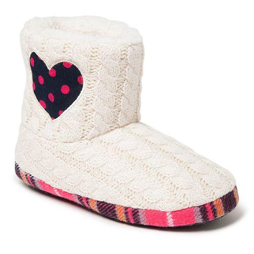 Dearfoams Heart Girls' Slipper Boots