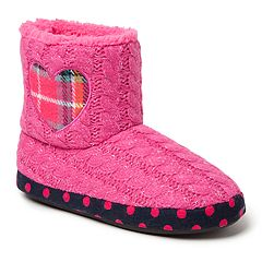 Dearfoams Heart Girls' Slipper Boots