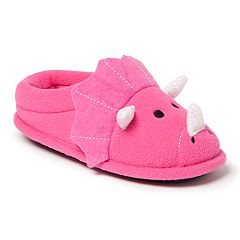 Dearfoams Dinosaur Girls' Slippers