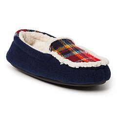 Dearfoams Plaid Boys' Moccasin Slippers