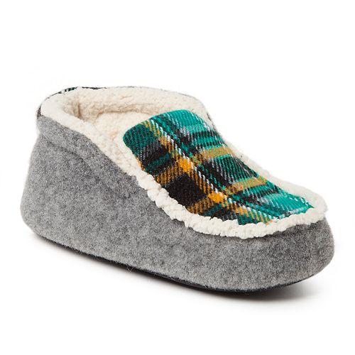 Dearfoams Plaid Boys' Slipper Boots