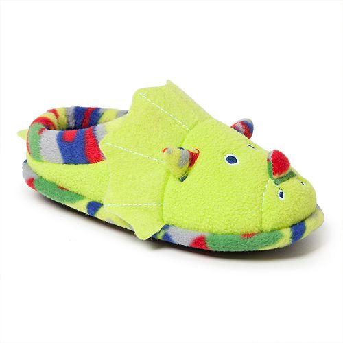 Dearfoams Dinosaur Boys' Slippers