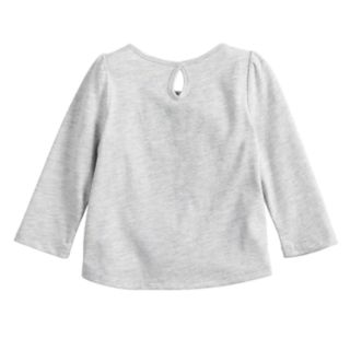 Baby Girl Jumping Beans® Glittery Keyhole Top