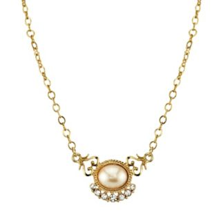Downtown Abbey Simulated Pearl & Crystal Necklace