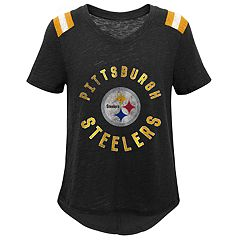 Girls 7-16 Pittsburgh Steelers Retro Tee