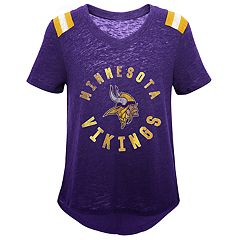 Girls 7-16 Minnesota Vikings Retro Tee