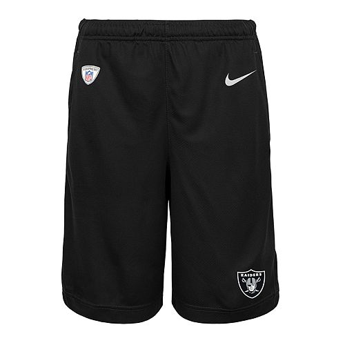 Boys 8-20 Nike Oakland Raiders Knit Dri-FIT Shorts