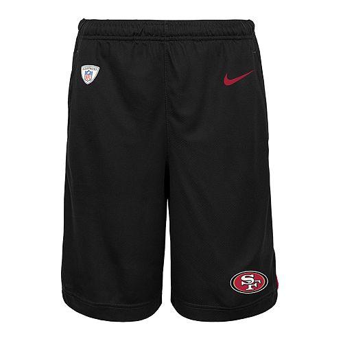 Boys 8-20 Nike San Francisco 49ers Knit Dri-FIT Shorts