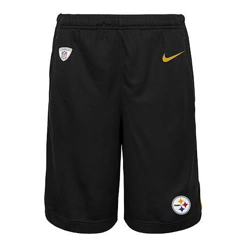 Boys 8-20 Nike Pittsburgh Steelers Knit Dri-FIT Shorts