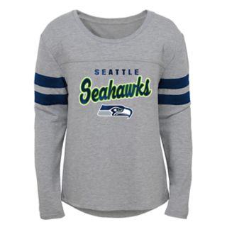 Girls 7-16 Seattle Seahawks Field Amor Tee