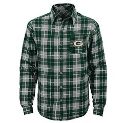 Boys 8-20 Green Bay Packers Sideline Plaid Shirt