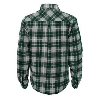 Boys 8-20 Green Bay Packers Sideline Plaid Shirt