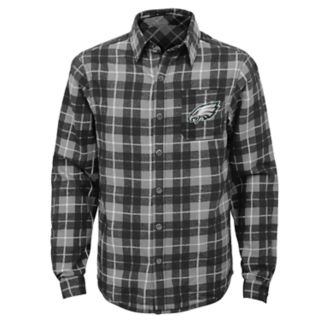 Boys 8-20 Philadelphia Eagles Sideline Plaid Shirt