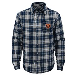 Boys 8-20 Chicago Bears Sideline Plaid Shirt