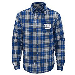 Boys 8-20 New York Giants Sideline Plaid Shirt