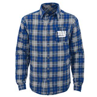 Boys 8-20 New York Giants Sideline Plaid Shirt