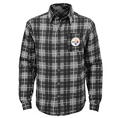 Boys 8-20 Pittsburgh Steelers Sideline Plaid Shirt