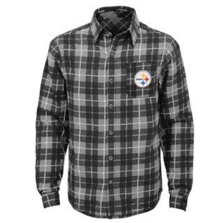 Boys 8-20 Pittsburgh Steelers Sideline Plaid Shirt