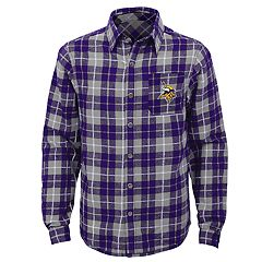 Boys 8-20 Minnesota Vikings Sideline Plaid Shirt