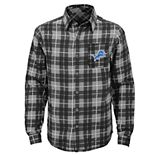 Boys 8-20 Detroit Lions Sideline Plaid Shirt