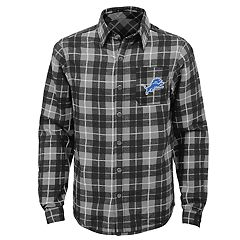 Boys 8-20 Detroit Lions Sideline Plaid Shirt