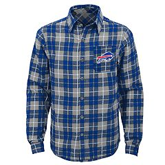 Boys 8-20 Buffalo Bills Sideline Plaid Shirt