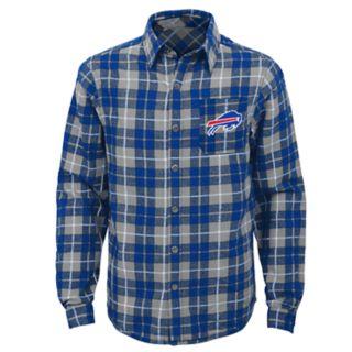 Boys 8-20 Buffalo Bills Sideline Plaid Shirt