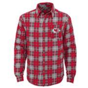 Boys 8-20 Kansas City Chiefs Sideline Plaid Shirt