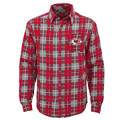 Boys 8-20 Kansas City Chiefs Sideline Plaid Shirt