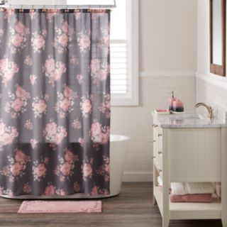 LC Lauren Conrad Bold Blossom Shower Curtain