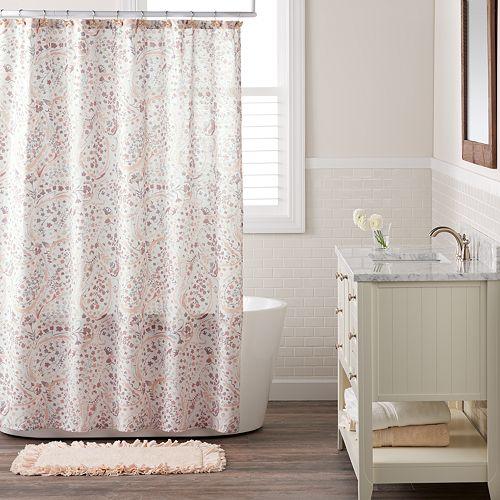 LC Lauren Conrad Faded Paisley Shower Curtain