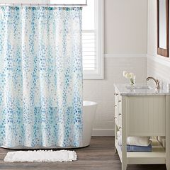 LC Lauren Conrad Watercolor Abstract Shower Curtain