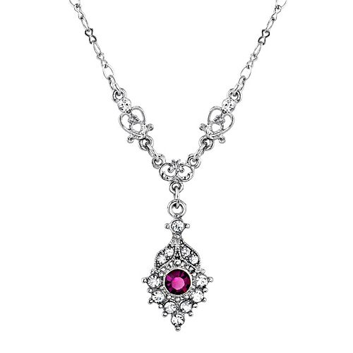 Downtown Abbey Simulated Crystal Y Necklace