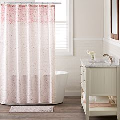 LC Lauren Conrad Confetti Shower Curtain