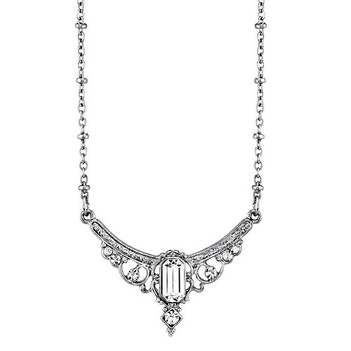Downtown Abbey Simulated Crystal Statement Necklace