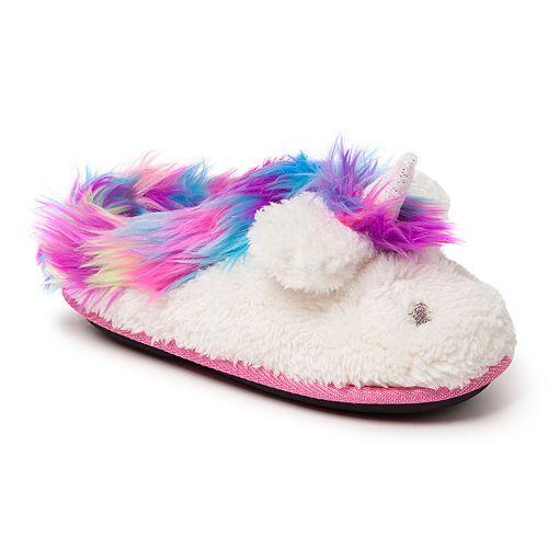 Dearfoams Unicorn Girls' Slippers