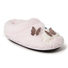Dearfoams Rainbow Girls' Slippers