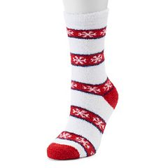 Jammies For Your Families Snowflake Slipper Socks