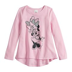 Disney's Minnie Mouse Girls 4-12 Glittery Thermal Swing Top by Jumping Beans®