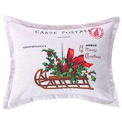 levtex home yuletide carte postale throw pillow