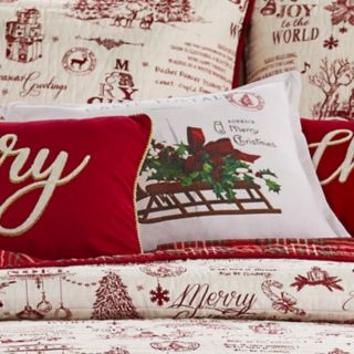"Levtex Home Yuletide ""Carte Postale"" Throw Pillow"