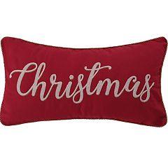 Levtex Home Yuletide 'Christmas' Oblong Throw Pillow