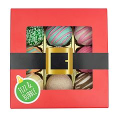 Fizz & Bubble Holiday 9 Pack Assorted Fizzy Bath Truffles