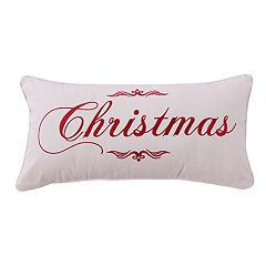 Levtex Home Christmas Script 'Christmas' Oblong Throw Pillow