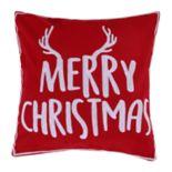 """Levtex Home Reindeer """"Merry Christmas"""" Throw Pillow"""