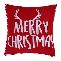 levtex home reindeer merry christmas throw pillow