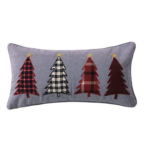 Levtex Home Reindeer Trees Oblong Throw Pillow