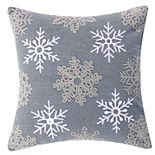 Levtex Home Reindeer Snowflake Throw Pillow