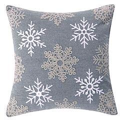 Levtex Home Reindeer Snowflake Throw Pillow