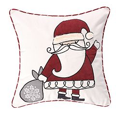 Levtex Home Santa Claus Lane Santa Throw Pillow